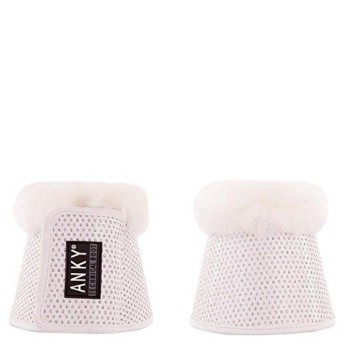Anky Springglocken Hufglocken Climatrole Soft & Shiny Lammfell (XL, Weiss)