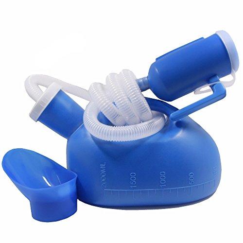 YUMSUM Reise Männlich Bett Urinal Pissoir Flasche Nacht Drainage Container Urin Collector mit Tube für Männer, 1700 ML