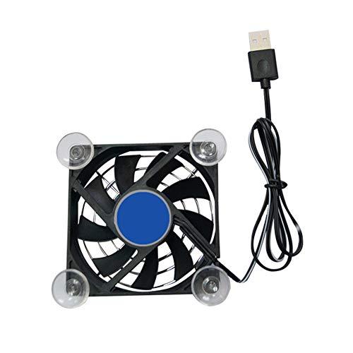 Ganquer Schwarz USB Cooling Pad Controller Tablet Tragbarer Lüfterhalter Telefonkühler Rapid(Black) (Tablet-cooling Pad)