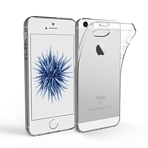 EasyAcc iPhone SE 5S 5 Hülle Case Transparent Handyhülle Schutzhülle Durchsichtig TPU Crystal Clear Case Backcover Bumper Slimcase TPU Hülle
