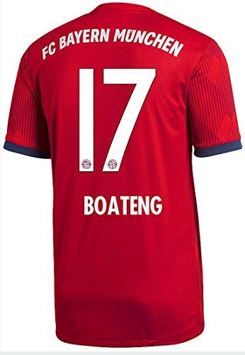 adidas FC Bayern München Trikot Home 2018/2019 Herren (Boateng, XL - 56/58)
