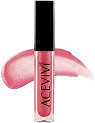 ACEVIVI Ultra Nourishing Gloss Lip Color with LED Light and Mirror Lipsticks - Pink