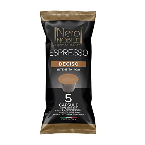 Capsule Caffè NeroNobile DECISO - 100 Capsule Compatibili NESPRESSO Nero Nobile - Intensità 10/10 Nero Nobile Capsule Nespresso
