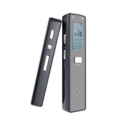 Digitales Diktiergerät, Miuko 1536kbps 8GB Audiorecorder Gute Qualität Mikrofo Tonaufnahmegerät für Büro, Interviews, Meetings, Schule usw