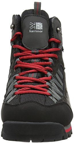 Karrimor Spike Mid Ii Weathertite, Chaussures de Randonnée Hautes Homme Noir (Black Red)