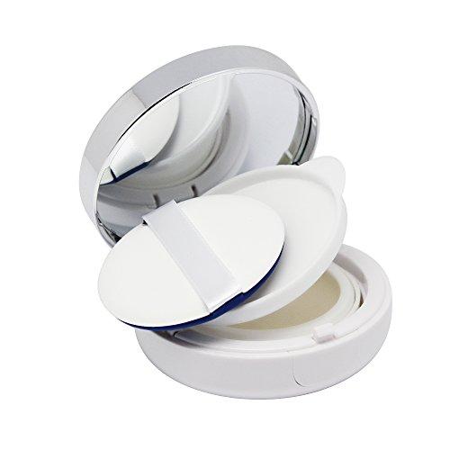 SelfTek Boîte remplie de poubelle rechargeable vide Boîte à coussin d'air pour DIY Fondation à base de crème BB / CC avec miroir et éponge Puff
