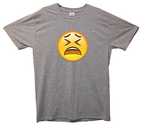 Tired Face Emoji T-Shirt Grau