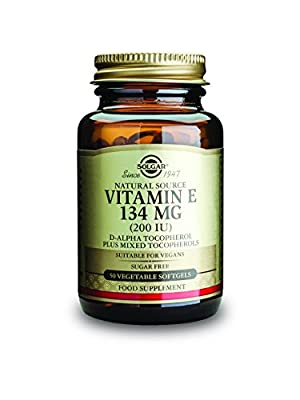 Solgar 134 mg Vitamin E Vegetable Softgels - Pack of 50 from Solgar