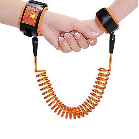 Baby Anti-lost Belt,YIGO Baby Anti Lost safety wrist link bungee leash Safety Toddler Harness (Orange)