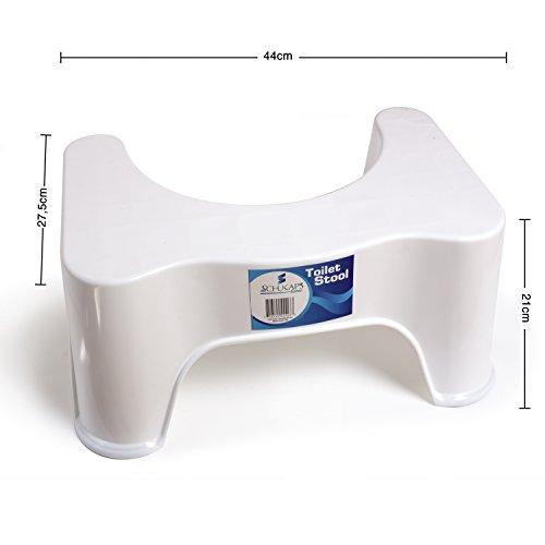 Taburete fisiologico para inodoro recomendado por los medicos para una mejor y completa evacuacion -Ergonomico. WC - Retrete - Hemorroides - Schukaps Home -
