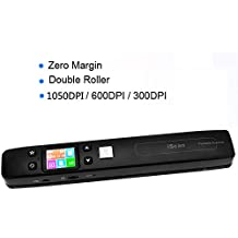 KKmoon iScan Mini Portátil A4 Escáner de Documentos/Libros/Fotos de Alta Velocidad Margen de Doble Cero 1050DPI JPG / Tarjeta de TF Formato PDF