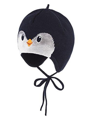 maximo Baby-Jungen Mütze Pinguin, Bindeband, Blau (Dunkelmarine 11), ()
