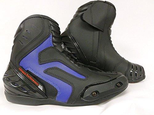 Stivali da Moto: XTRM X1016 EAGLE PADDOCK Motocicletta stivale touring, stivaletti sports, Urbani stivali da turismo - Scarpe moto (EU 45, Blu)