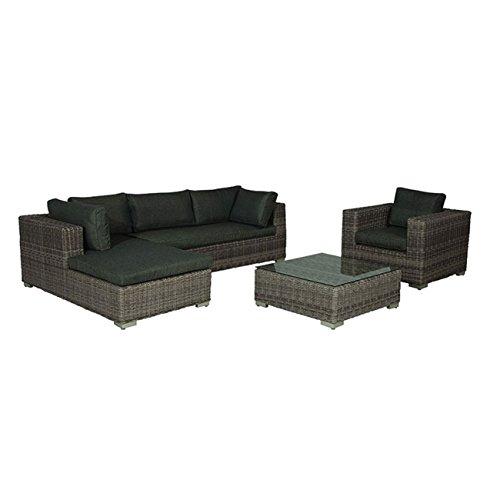 Gartenlounge OUTLIV. Salamanca Loungeset 4-teilig Geflecht Organic Grey 700016-836465