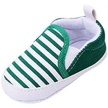 Minetom Casuales Zapatos del Niño Zapatillas de Bebé Unisex Algodón Cómoda Mezcla Rayas Antideslizantes Zapatos