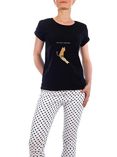 "Design T-Shirt Frauen Earth Positive ""holy crap"" - stylisches Shirt Kindermotive Comic von Lingvistov Schwarz"