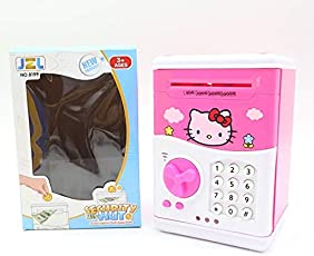 MousePotato Electronic Piggy Bank Password Lock Money Safe for Coins ans Notes Collecting (99P)
