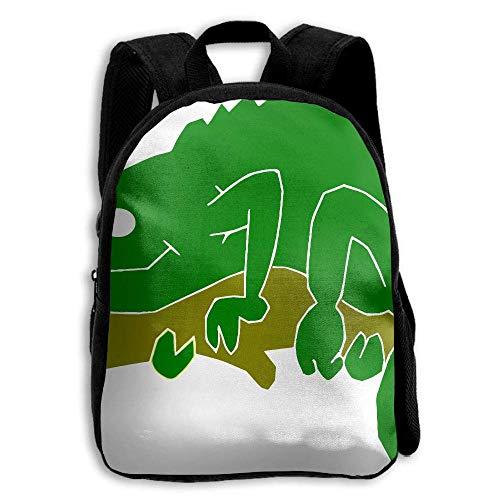 ADGBag Children's Chameleon Lizard Green Branch Backpack Schoolbag Shoulders Bag for Kids Kinder Rucksack (Lizard Geldbörse)