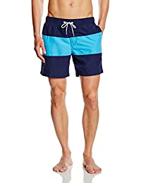 Miami Beach Swimwear Herren Badeshorts mit Block-Print