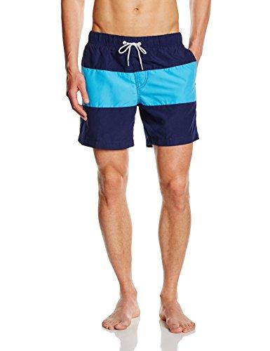Miami Beach Swimwear Justin - Bañador Hombre, Azul (baia blue 605), Large (Talla del fabricante: Large)