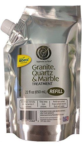 Supreme Oberfläche Granit-, Marmor Behandlung Refill Buddy 22 fl oz edelstahl - Behandlung Refill