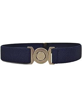 Olata Cinturón Elástico para los Niños 1-6 Años, Ronda Hebilla Diseño
