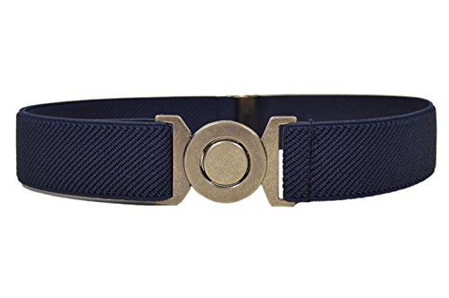 childrens-1-6-years-fully-adjustable-elasticated-belt-with-round-buckle-design-navy-blue