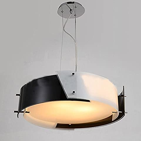 Modern Simple Ceiling Lamp, Round Drum Acrylic Lampshade, 3 X 40we14 Lampholders, Suitable for Bedrooms and Restaurants
