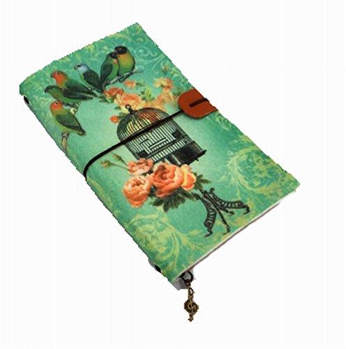 Antike Vogel-prints (Leder Tagebuch Schreiben Notebook-Antik handgefertigt Leder Bound Täglich Notizblock, Filz Notebook, Vintage Print Serie Vogel-Motiv)
