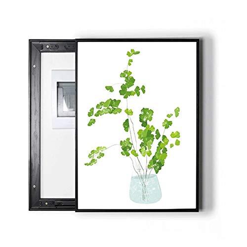 Pintura decorativa, caja medidor eléctrico pequeño