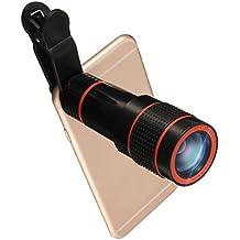 Lentes Movil 12x Zoom,Hizek Lentes para Camara Telefono Universal Fisheye Objetivo de Ángulo Amplio para iPhone 6 / 6 Plus / 5S / 5 , Samsung Galaxy S6 / S6 Edge / S5, HTC, etc