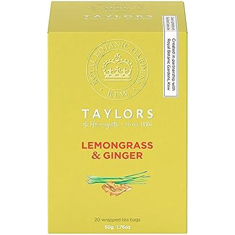 Taylor & Kew limoncillo y jengibre bolsitas de té 20 por paquete