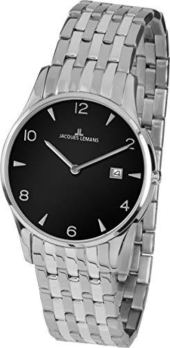 Jacques Lemans Reloj Analógico para Unisex Adultos de Cuarzo con Correa en Acero Inoxidable 1-1852ZA