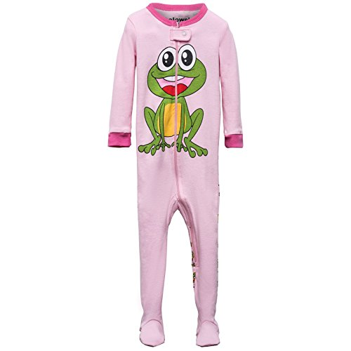 Elowel Baby madchen Grobe 68 - 110 Einteiler Eng Geschnitten Strampler Schlafanzug Schlafoverall Frosch 100% Baumwolle 104/4 Jahre (Baumwoll-schlafanzug Frosch)