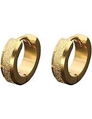 SHINEstyle Boucles d'oreilles en acier inoxydable en acier mat Huggie Boucles d'oreilles pour hommes Femmes