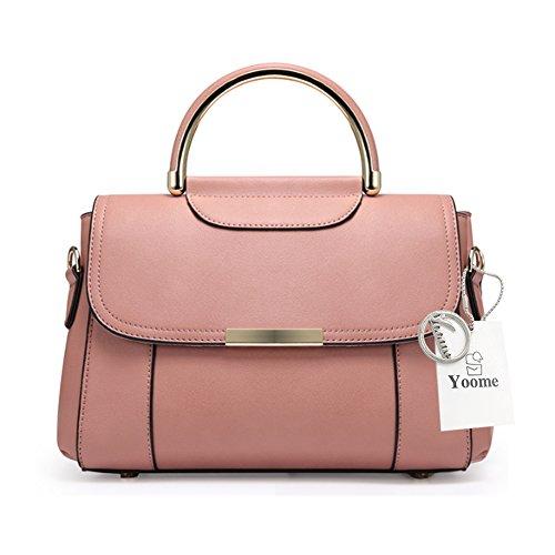 Borse per ragazze Yoome per ragazzi Borse eleganti in Satchel Handle per donne Ladies Borse Casual Borse - Beige Rosa
