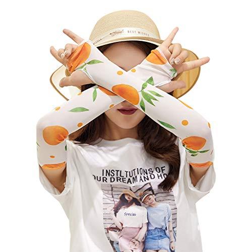 bunte Cartoon-Avocado-Frucht-Arm-Überzug für Damen, Mädchen, Sommer, Outdoor, Radfahren, Kühlung, Sonnenschutz 2 ()