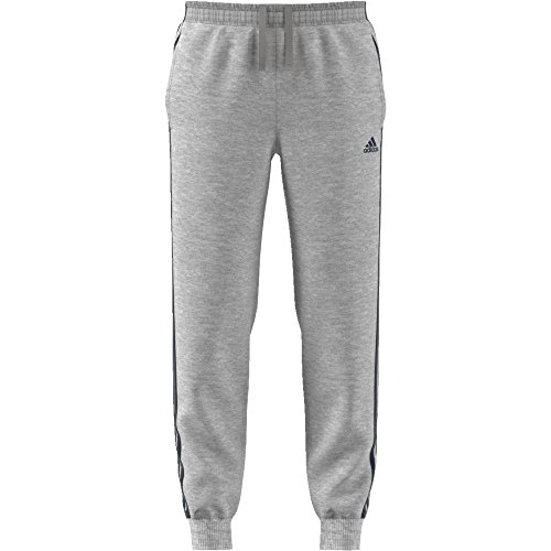 adidas Herren Essentials 3-Streifen Jogginghose Medium Grey Heather/Collegiate Navy