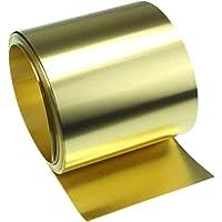 Xiayanmei Hoja de latón Rollo de latón Tira de la Alta pureza del Oro de la película de lámina de Cobre de latón Hoja, 0,15 mm de Espesor, 200x1000mm
