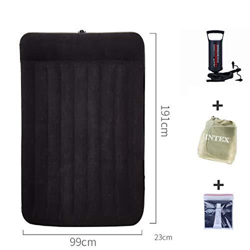 TY-Inflatable bed Aufblasbare Matratze einzelnes doppeltes Luftbett männliches faltendes Bettdoppelter Ausgang im Freien tragbar (größe : 99CM-A)