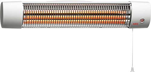 AEG Infrarot Quarz-Heizstrahler IWQ 121 für das Bad, 2 Heizstufen, 1200 Watt, 234820
