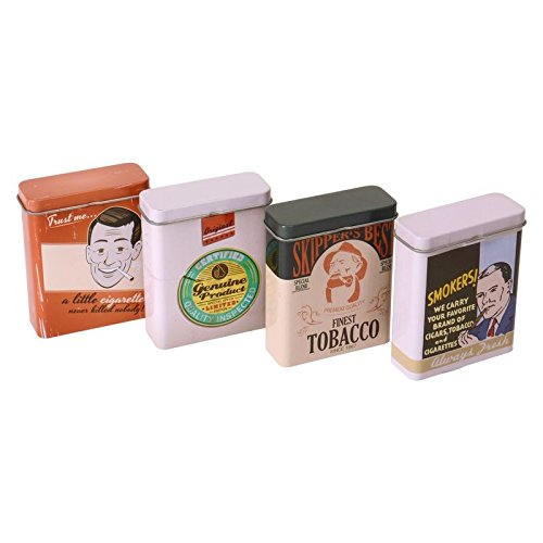 Abbildung: Retro Smoking Zigarettendose - Vintage Zigarettenbox Retro Zigarettenetui