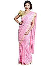 Ethnic Bliss Lifestyles Chiffon Saree (Eblphksrlp_Light Pink)