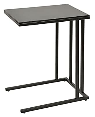 ts-ideen – Table tempered glass 5 mm, side end dining desk office, black 30 x 40 cm - low-cost UK light store.