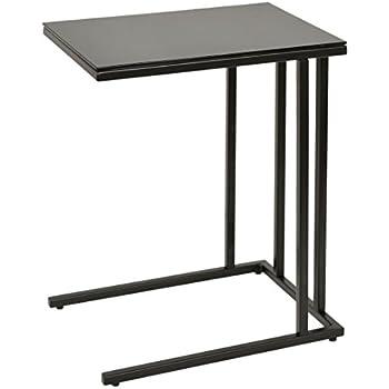 table d 39 appoint table basse table d 39 ordinateur portable 30 x 40 cm 5mm noir table en verre. Black Bedroom Furniture Sets. Home Design Ideas