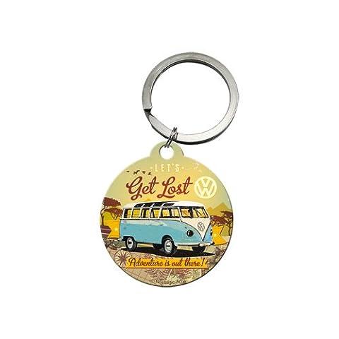 Nostalgic-Art 48021Porte-clés Volkswagen Bulli–Let's Get Lost, rond 4cm
