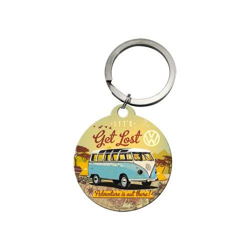Nostalgic-Art 48021 Volkswagen - VW Bulli - Let's Get Lost | Schlüsselanhänger | Metall-Schlüsselanhänger | Rund | 4 cm