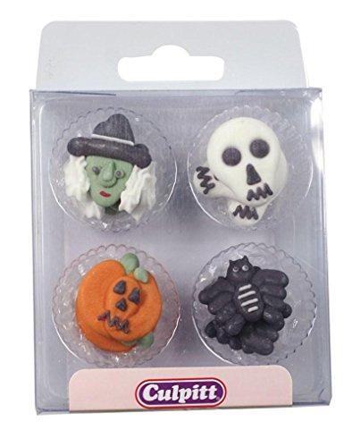 Halloween Edible Sugar Cake Decorations - Pack of 12