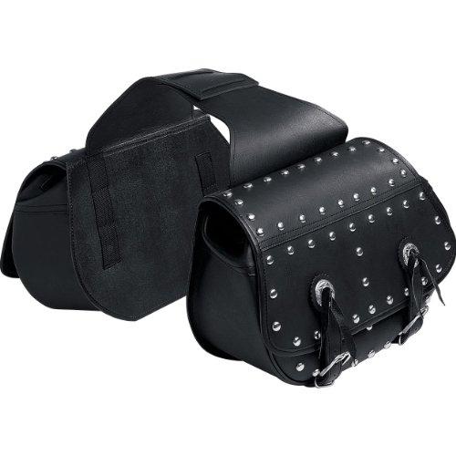 Motorrad Sattel-Tasche QBag Leder für Motorrad, schwarz | Motorrad-Packtaschen, 2-Teilig, 15 Liter je Tasche