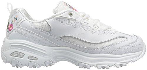 Skechers Damen Sportschuhe D´Lite Bright Blossoms Weiß Weiß